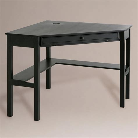 black corner computer desks black corner computer desk world market