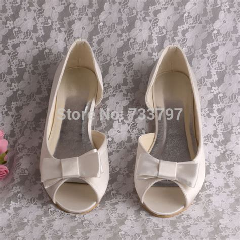 Wedding Shoes Peep Toe Flats by Compare Prices On Wedding Shoes Flats Ivory