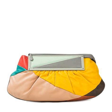 Fendi To You Purse by Fendi Multicolor Leather Convertible To You Clutch Bag