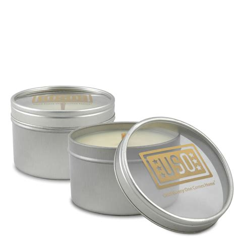 Soy Candle Supplies Bath Promotions 8 Oz Clear Window Tin