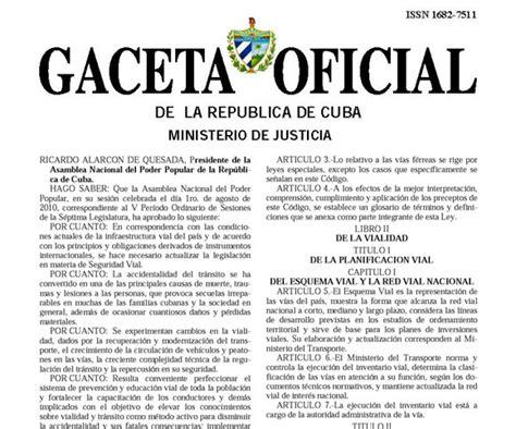 Gaceta Oficial Nro 40846 Correspondiente Al 11 De   gaceta oficial cuba 2014 autos post
