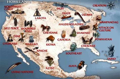 map of american tribes the beginning american tribes