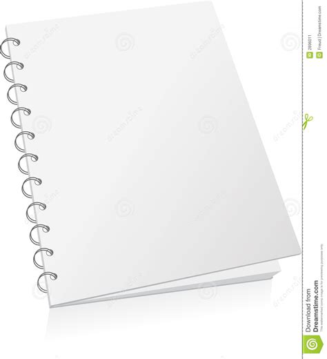 Blank Spiral Book Stock Illustration Image Of Packaging 2896011 Spiral Bound Book Template