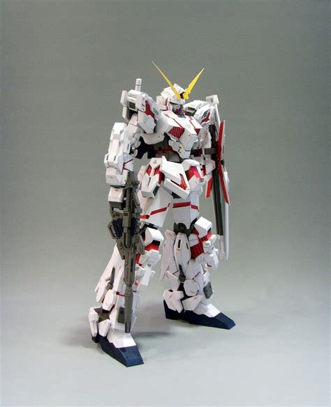 Unicorn Gundam Papercraft - rx 0 unicorn gundam papercraft by rarra