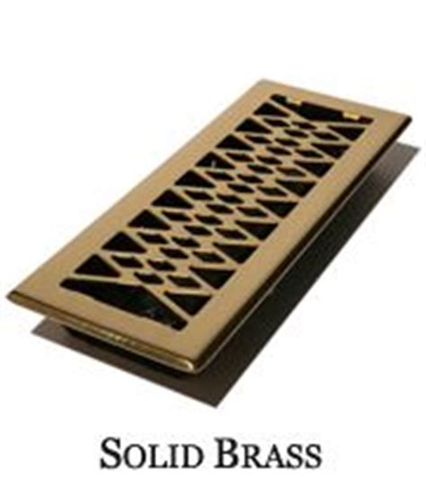 solid brass geometric floor vent covers family room