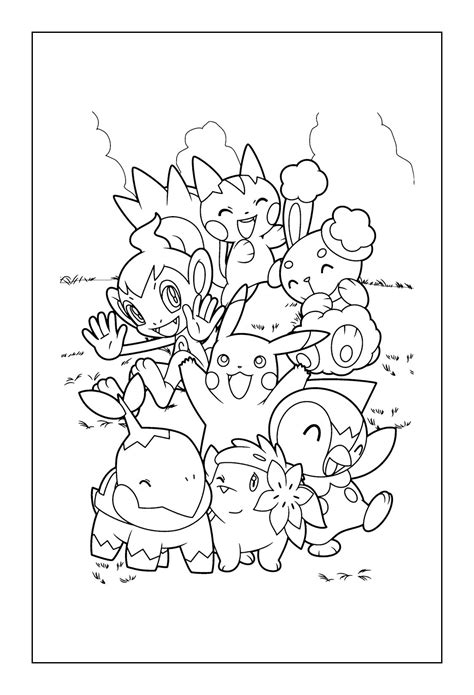 Pokemon Indigo Coloring Pages | all poke balls pokemon indigo coloring pages