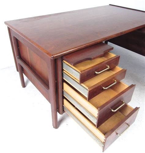mid century modern l shaped desk impressive mid century modern l shaped executive desk at