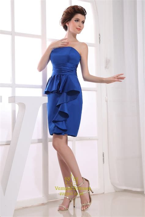 ruched sapphire blue dress sapphire blue strapless
