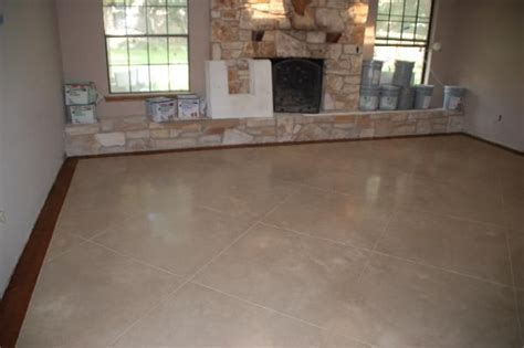 Stained Concrete Floors   Below, new construction, stain