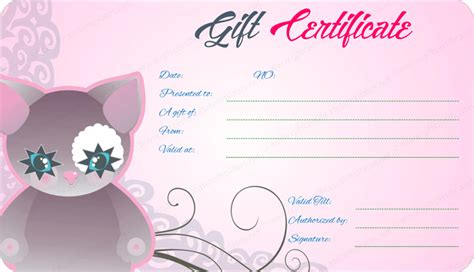 pink gift certificate template pink glow gift certificate template
