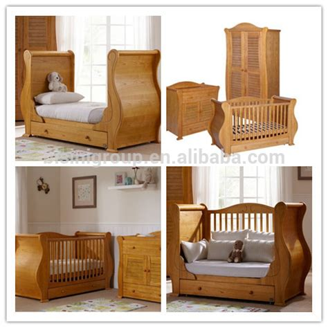 baby side bed crib american styled antique solid wood bedroom baby sleigh bed