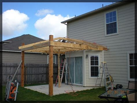 Hip Roof Porch Plans by How To Roof A Patio In Progress Framing Out Classic