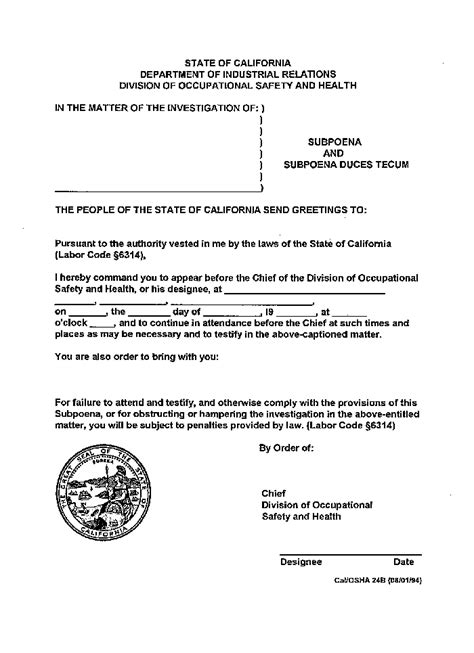 Transmittal Letter Court Dosh P P Subpoenas And Letters Requesting Documents