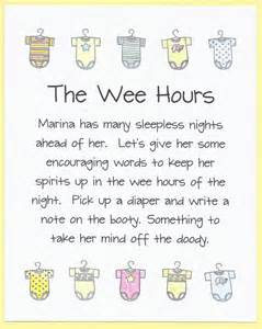 the wee hours baby shower sign by cardsbykooper