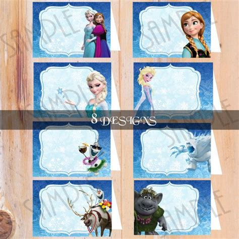 printable frozen food tents instant download frozen food tent frozen birthday food