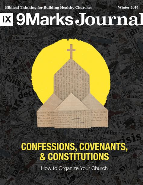church discipline medicine for the 9marks journal books confessions covenants and constitutions how to organize