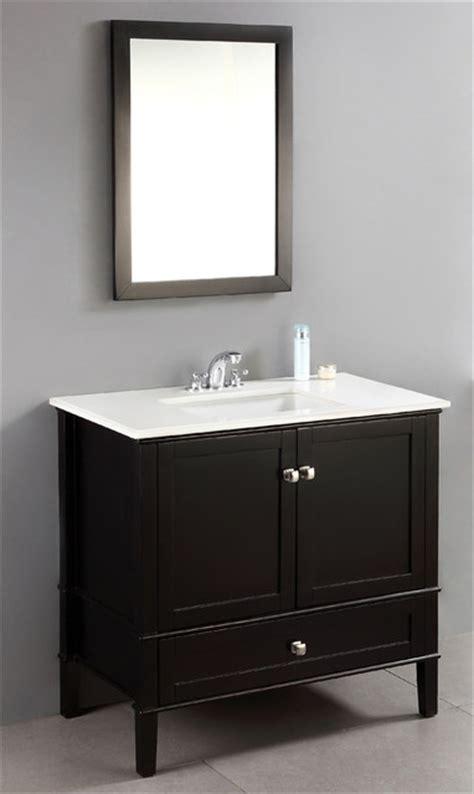 windham black 36 inch bath vanity with 2 doors bottom