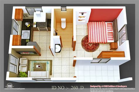 3d isometric views of small house plans architecture