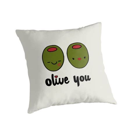 Olive You Pillow by Olive You Throw Pillow Valentines Gifts And