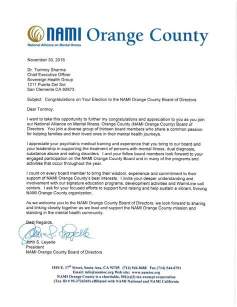 business letter salutation board of directors nami board of directors letter