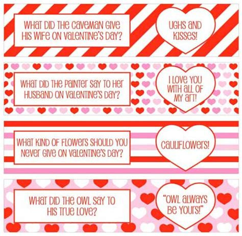 printable valentine jokes valentine printables for your romantic diy projects
