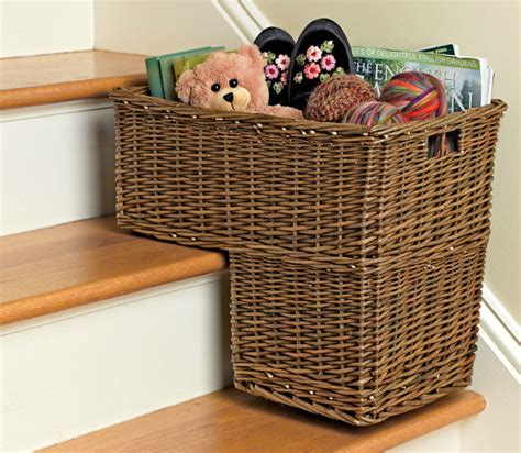 basket for stairs simple touch for beautiful steps