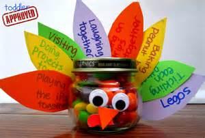 thanksgiving food crafts ideas toddler approved gratitude turkey treat jar