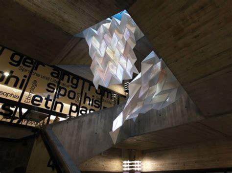 Origami Installation - luminous origami installation displays digital