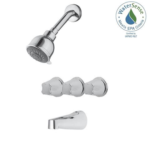 Pfister 3 Handle Shower Faucet by Pfister 3 Handle Tub And Shower Faucet Trim Kit In