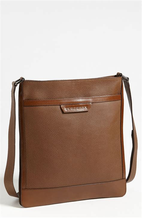 Burberry Crossbody Burberry Slim Crossbody Bag In Brown For Lyst