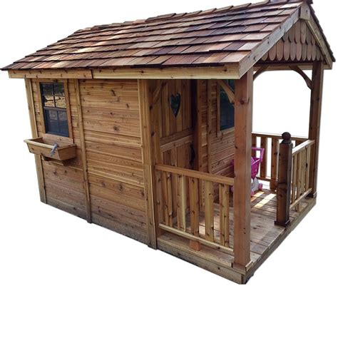 Sheds And Playhouses by Sunflower Cedar Storage Shed And Playhouse 6 Ft X 9 Ft