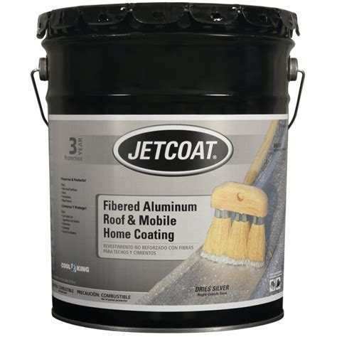 jetcoat fibered alum roof mobile home coating 4 75 gal