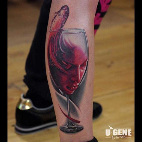 glass tattoo the gallery for gt wine glass