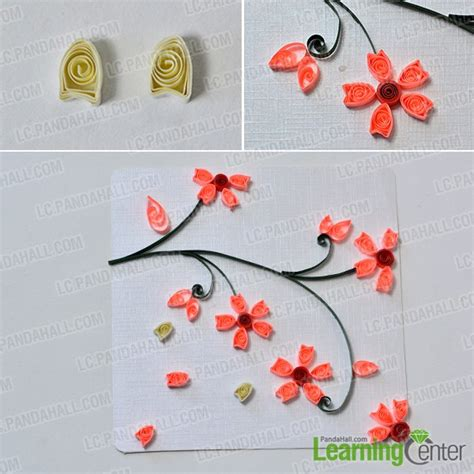 Steps To Make Paper Quilling - how to make lifelike paper quilling plum flowers cards