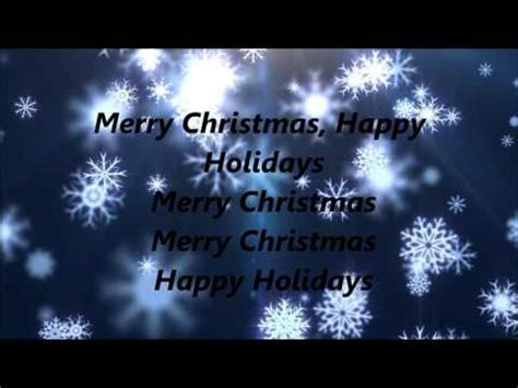 pentatonix merry christmas happy holidays lyrics youtube
