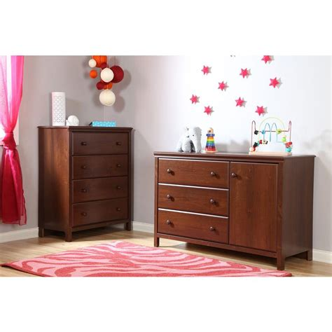 south shore cotton changing table south shore cotton 3 drawer sumptuous cherry