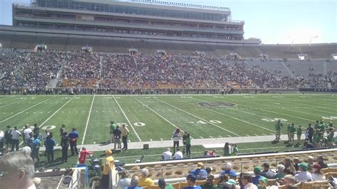notre dame stadium visitor section notre dame stadium section 29 rateyourseats com