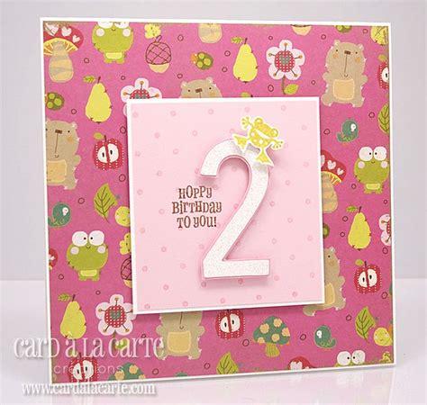 2nd Birthday Card 2nd Birthday Card Homemade Cards Pinterest