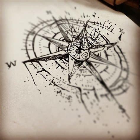 compass tattoo sketch jenxtattoos tumblr com sketch for tomorrow s broken
