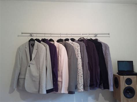 Low Cost Wardrobe by Low Cost Clothing Rack Hackers