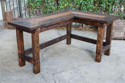 rustic l shaped desk rustic peeled aspen l shaped log desk l shaped desk