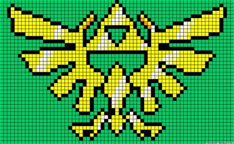 zelda bead pattern triforce legend of zelda perler bead pattern projects to