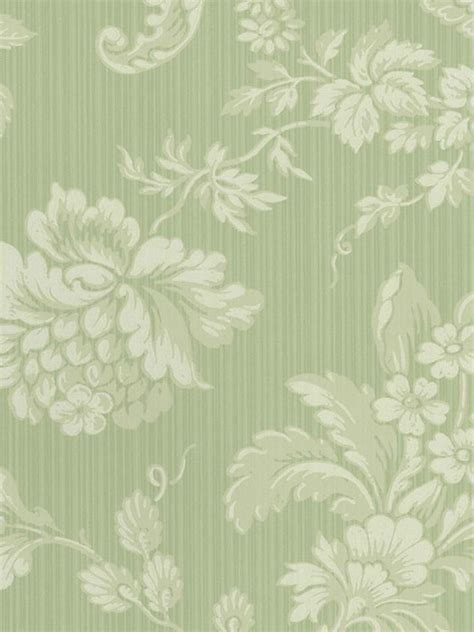 Floral In Green vintage floral wallpaper green