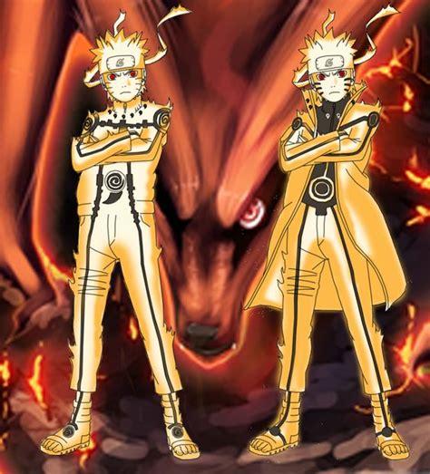 Anime Jaket Style Black Mintao Namikaze Hokage 4 in nine tails chakra mode stage 1 stage 2