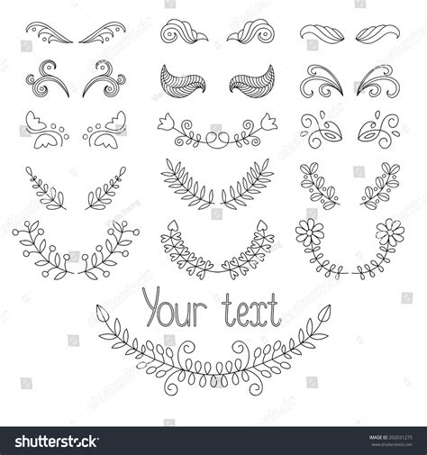 calligraphic text design elements vector big vector set calligraphic design elements stock vector