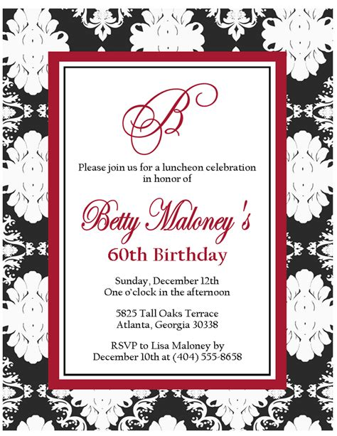 free printable birthday invitations black and white gt black and white damask invites sweet peach paperie