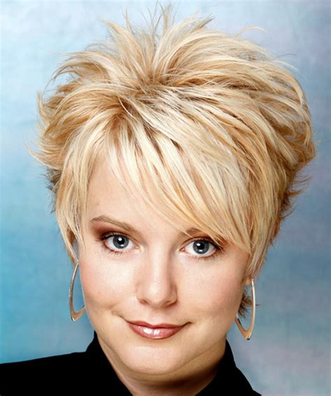 staight in front and spike in back hairstyle light blonde short haircuts for side bangs side front and