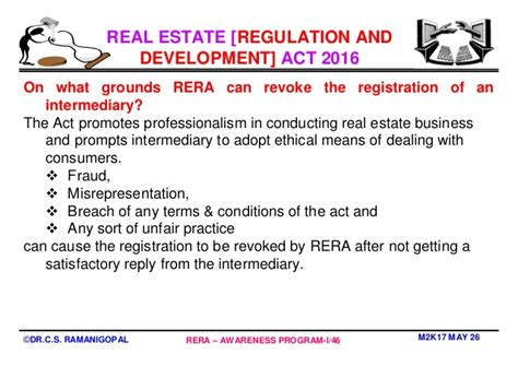 Real Estate Development Mba Programs by Mba In Real Estate Management Why Rera By Professor Dr C