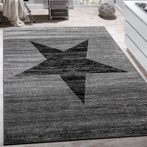teppiche sterne designer teppich muster modern trendig kurzflor