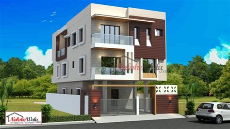 Two Storey House Designs And Floor Plans by Triple And Multi Storey Elevation 3d Triplex House